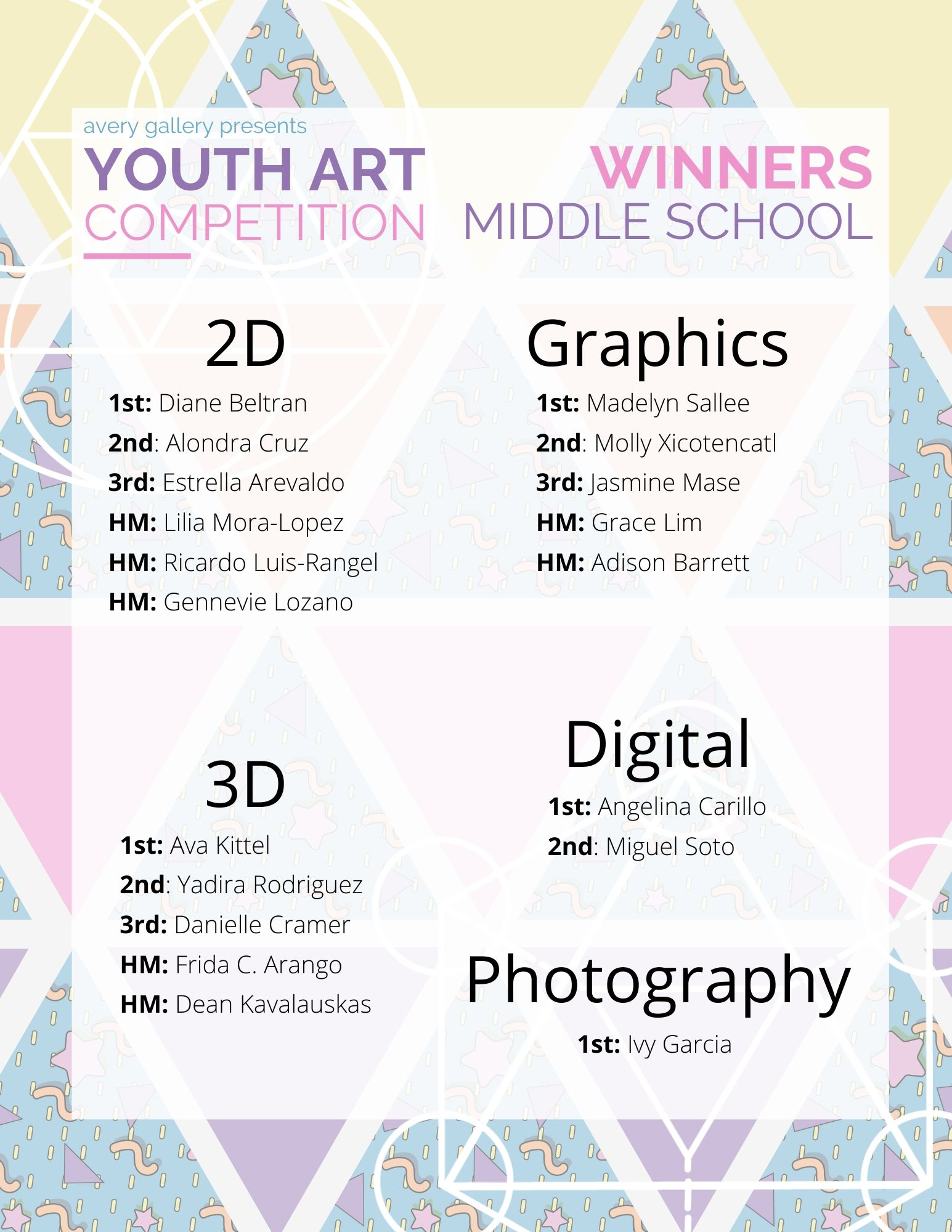 Youth Art Competition Winners