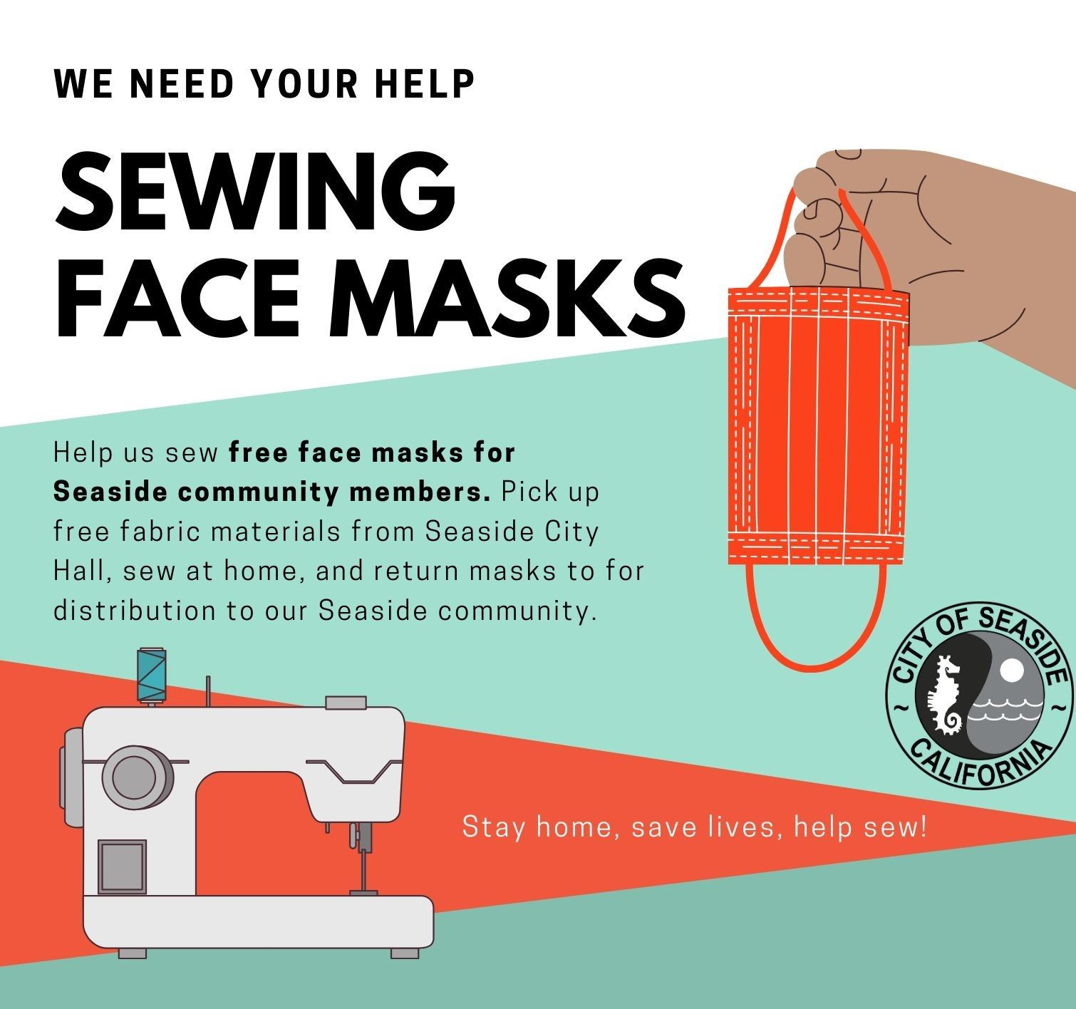 Face Mask Sewing Graphic