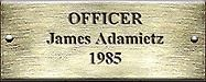 Officer James Adamietz 1985