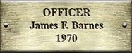 Officer James F. Barnes 1970