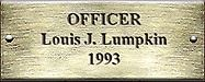 Officer Louis J. Lumpkin 1993