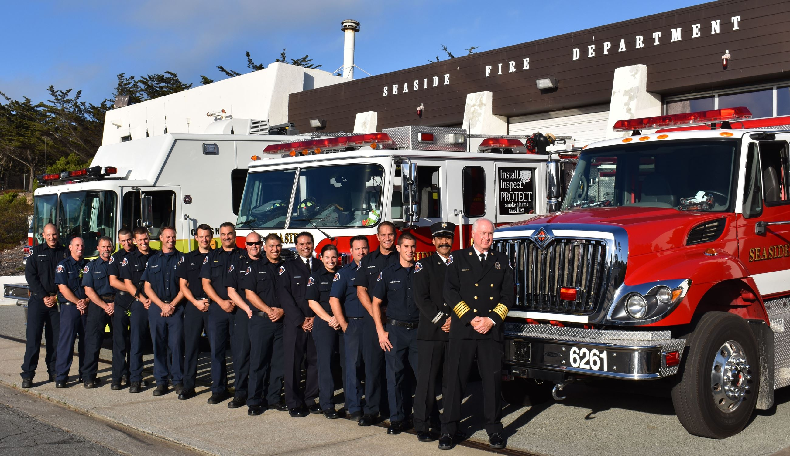 Group photo of the Seaside Fire Department Staff