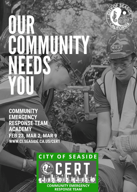 CERT Flyer our community needs  you