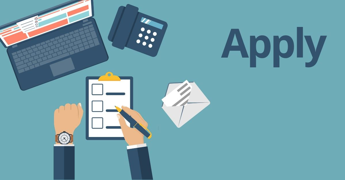 """Apply"" Graphic image of computer and application"