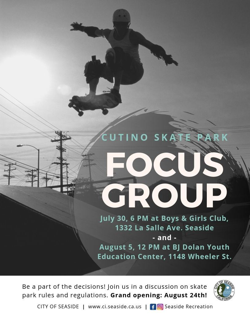 "Flyer that says ""Cutino Focus Group"""