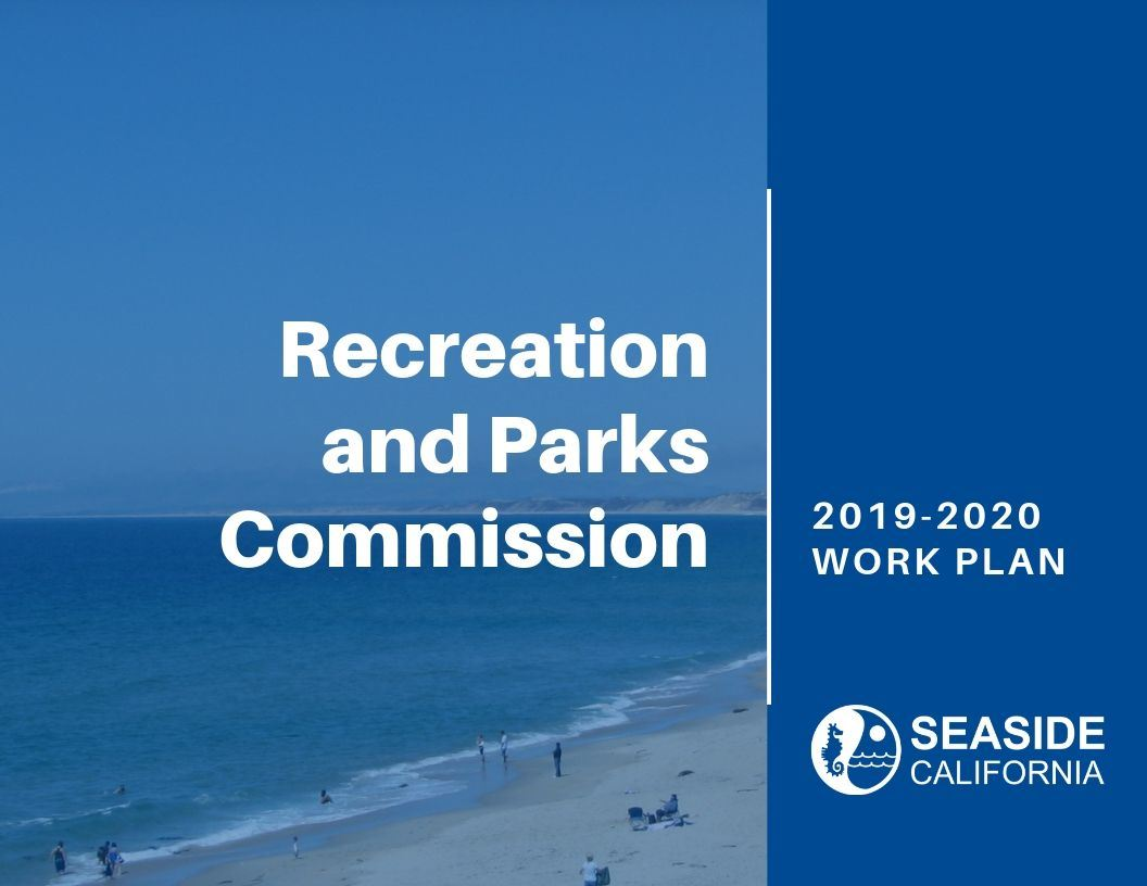 Cover of 19-20 Recreation and Parks Work Plan Opens in new window