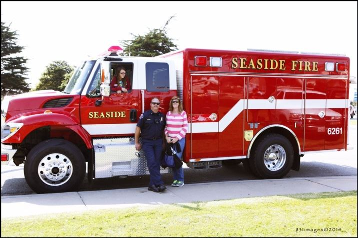 Seaside Fire Truck With a Person in it
