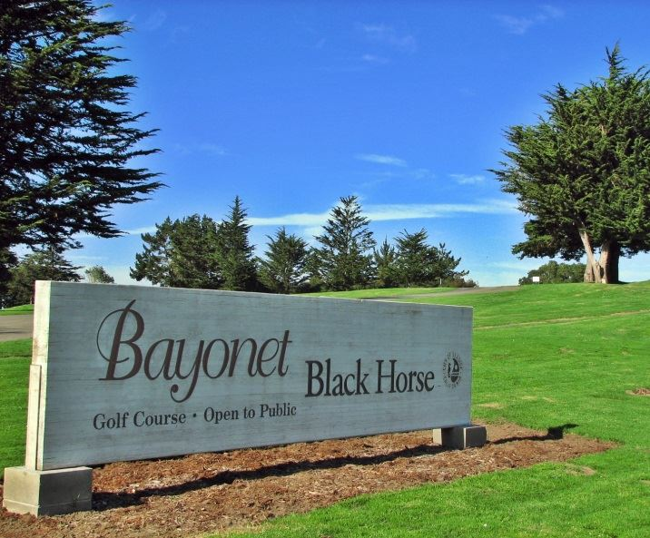 Bayonet Black Horse Golf Course sign on grass