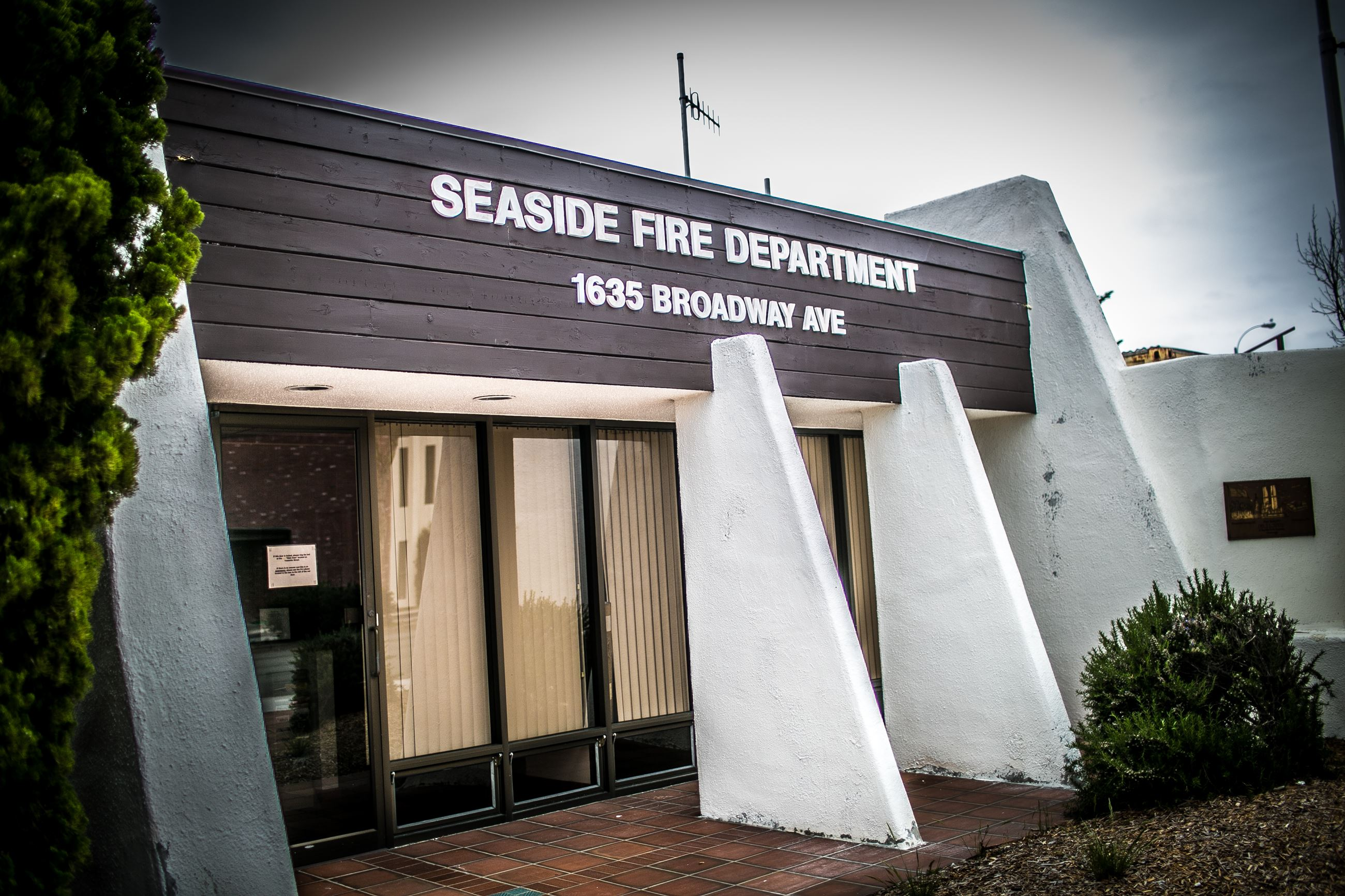 Front exterior of the Seaside fire Department building