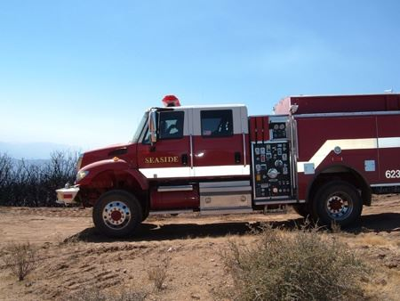Fire Truck at the Patterson Canyon Burn