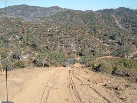 Road at the Patterson Canyon Burn