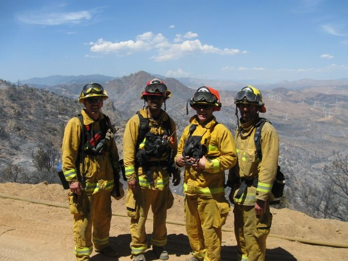 Group of Firefighters at the Jawbone Fire
