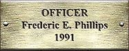 Officer Frederic E. Phillips 1991