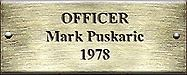Officer Mark Puskaric 1978