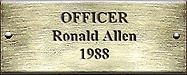 Officer Ronald Allen 1988