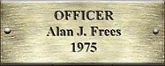 Officer Alan J. Frees 1975
