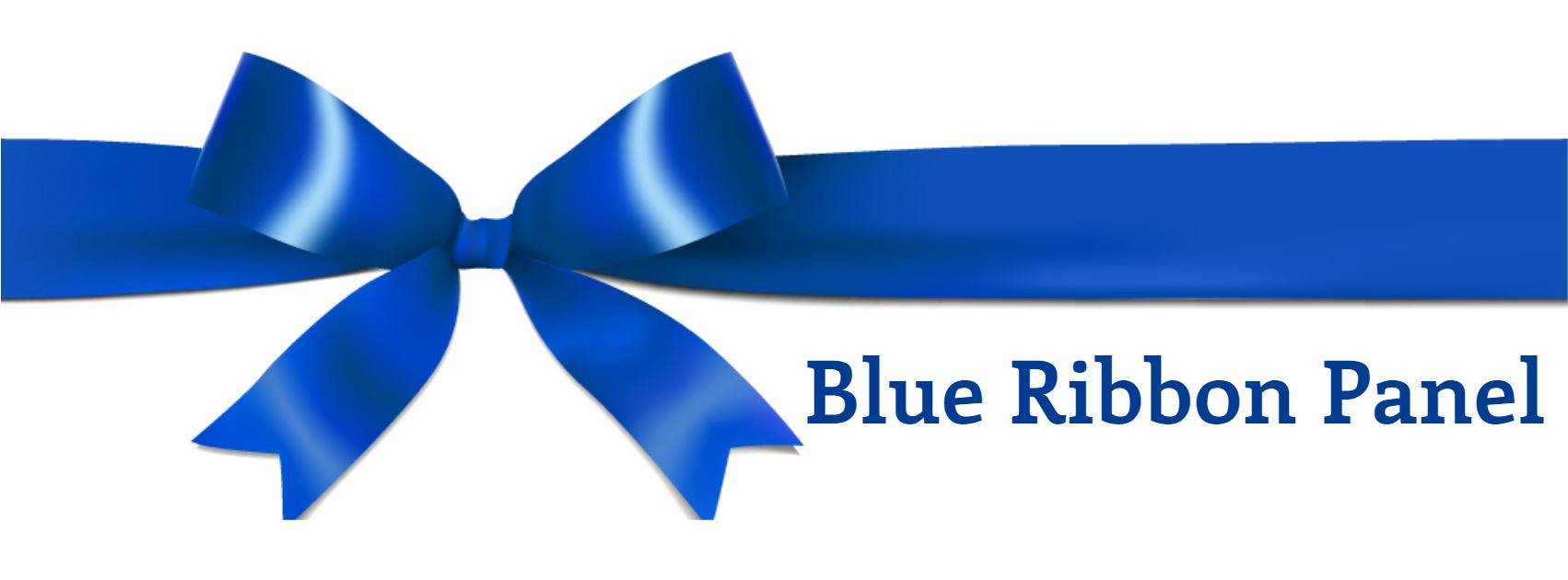 Blue Ribbon Panel graphic of a blue ribbon