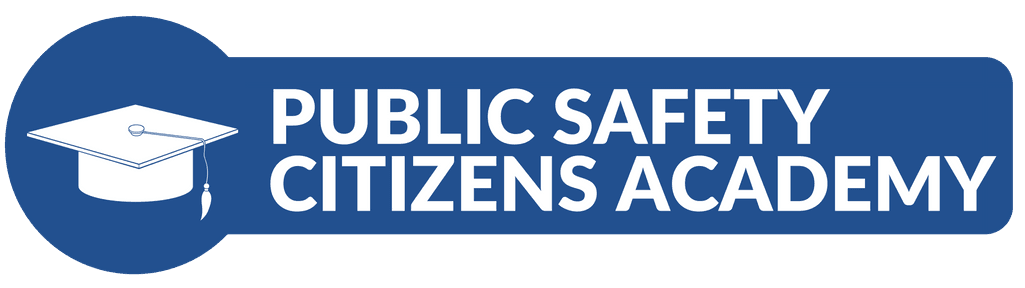 """Public Safety Citizen Academy"" graphic icon"