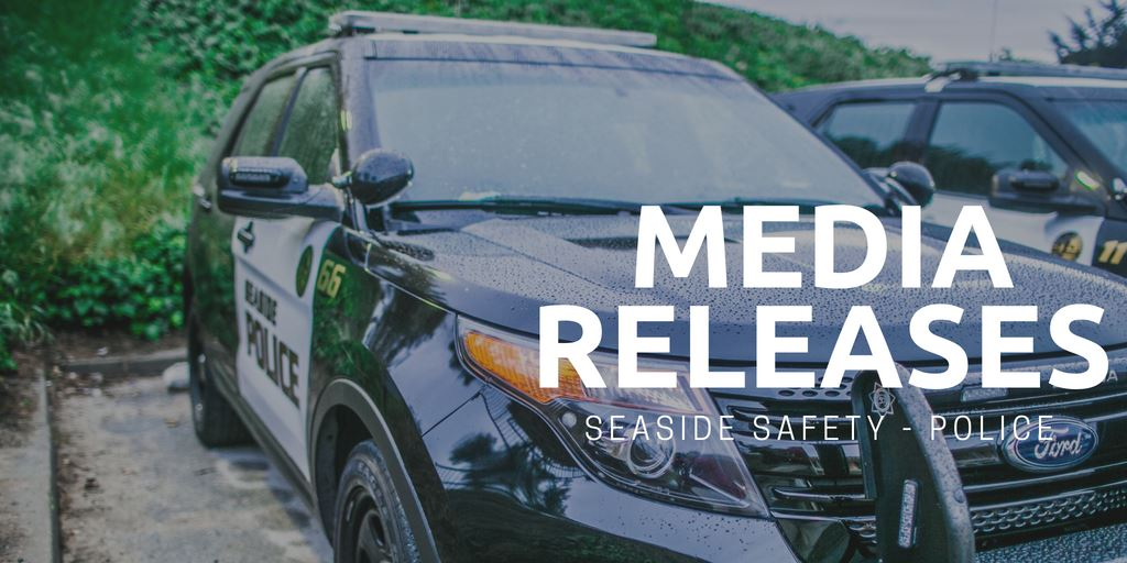 """Media Releases"" with image of police vehicle"