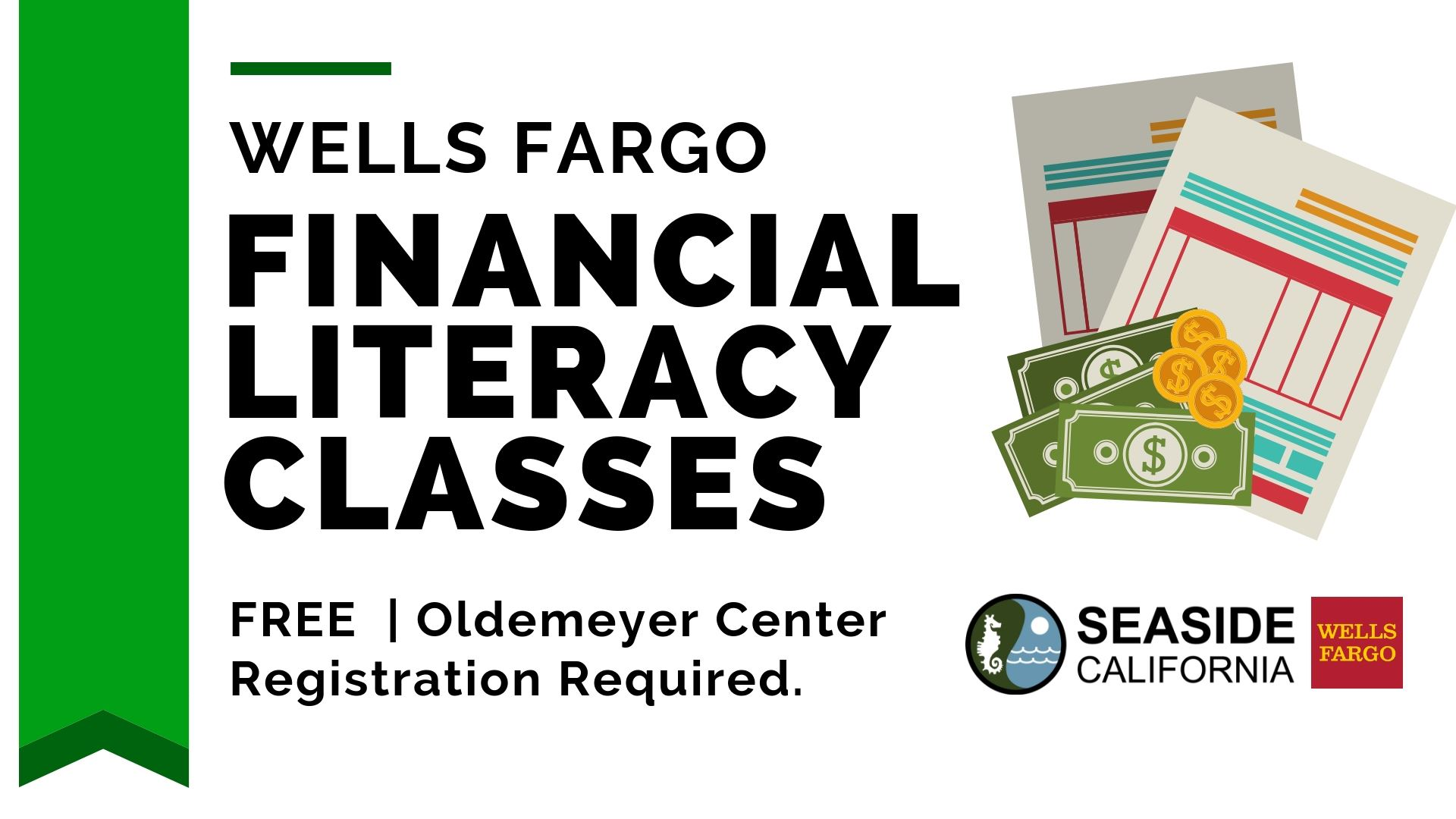 Financial Literacy Classes Flyer