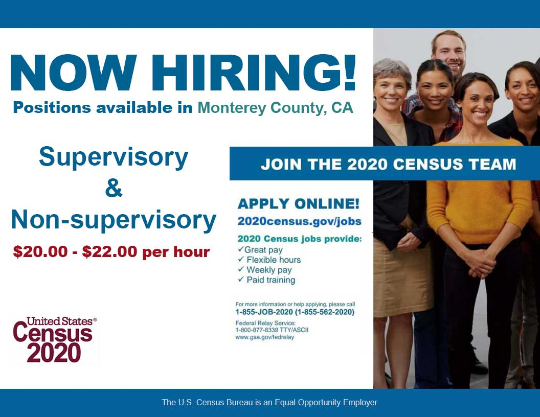 Now hiring Census Workers