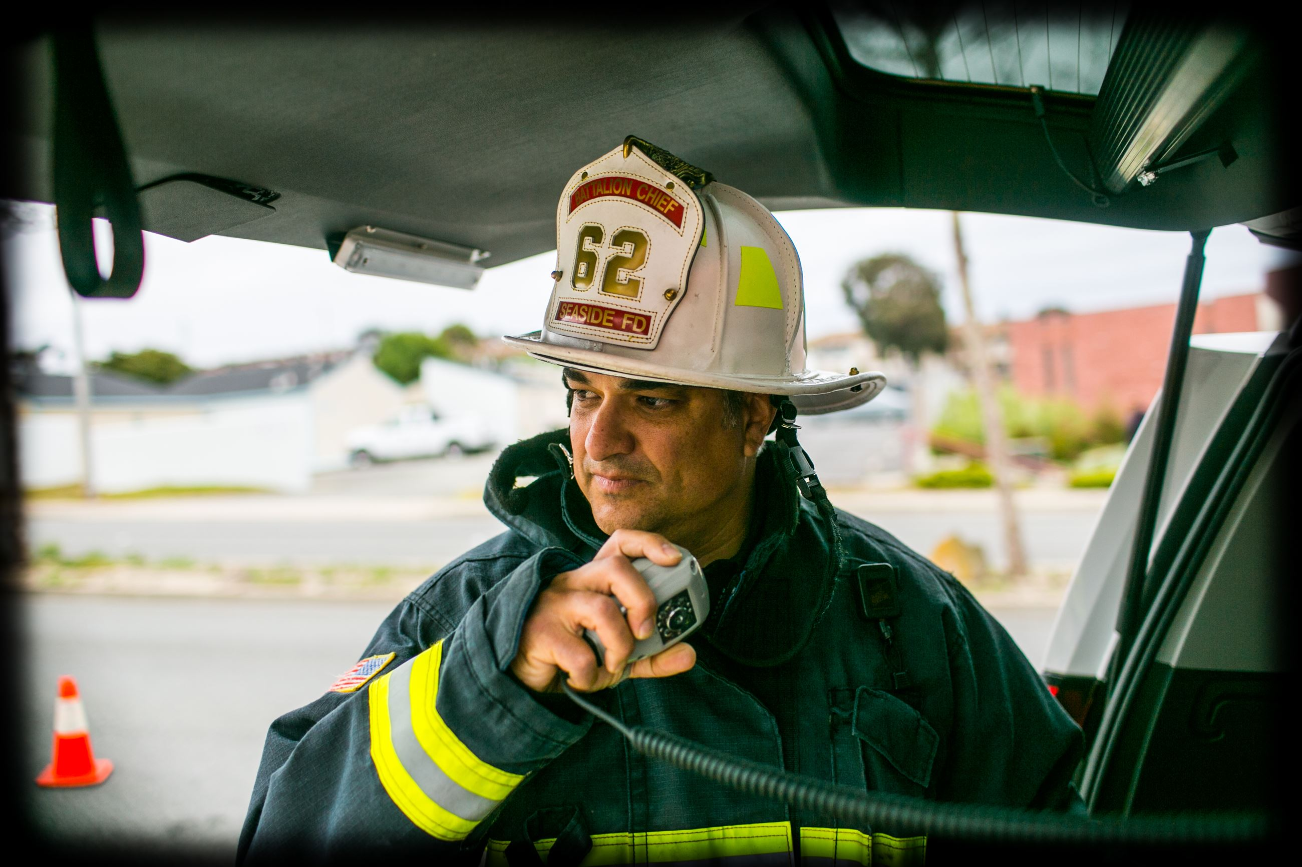 Seaside Fire Department Division Chief on radio