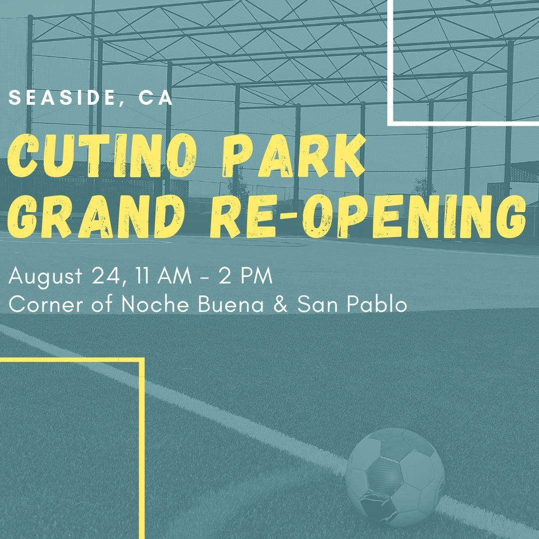 "Image that says ""Cutino Grand Re-Opening August 24, 11-2 PM"""